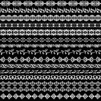 white ornate border patterns vector