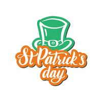 Composition irlandaise avec chapeau de lutin vert, étiquette jour saint patrick.
