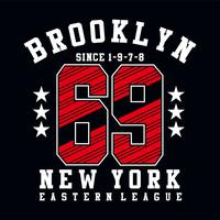 brooklyn sixty nine typography design stampare altri usi