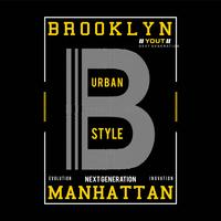 brooklyn typography design for t shirt print other uses