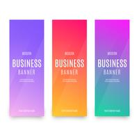 Modern business banner with geometrical cubes