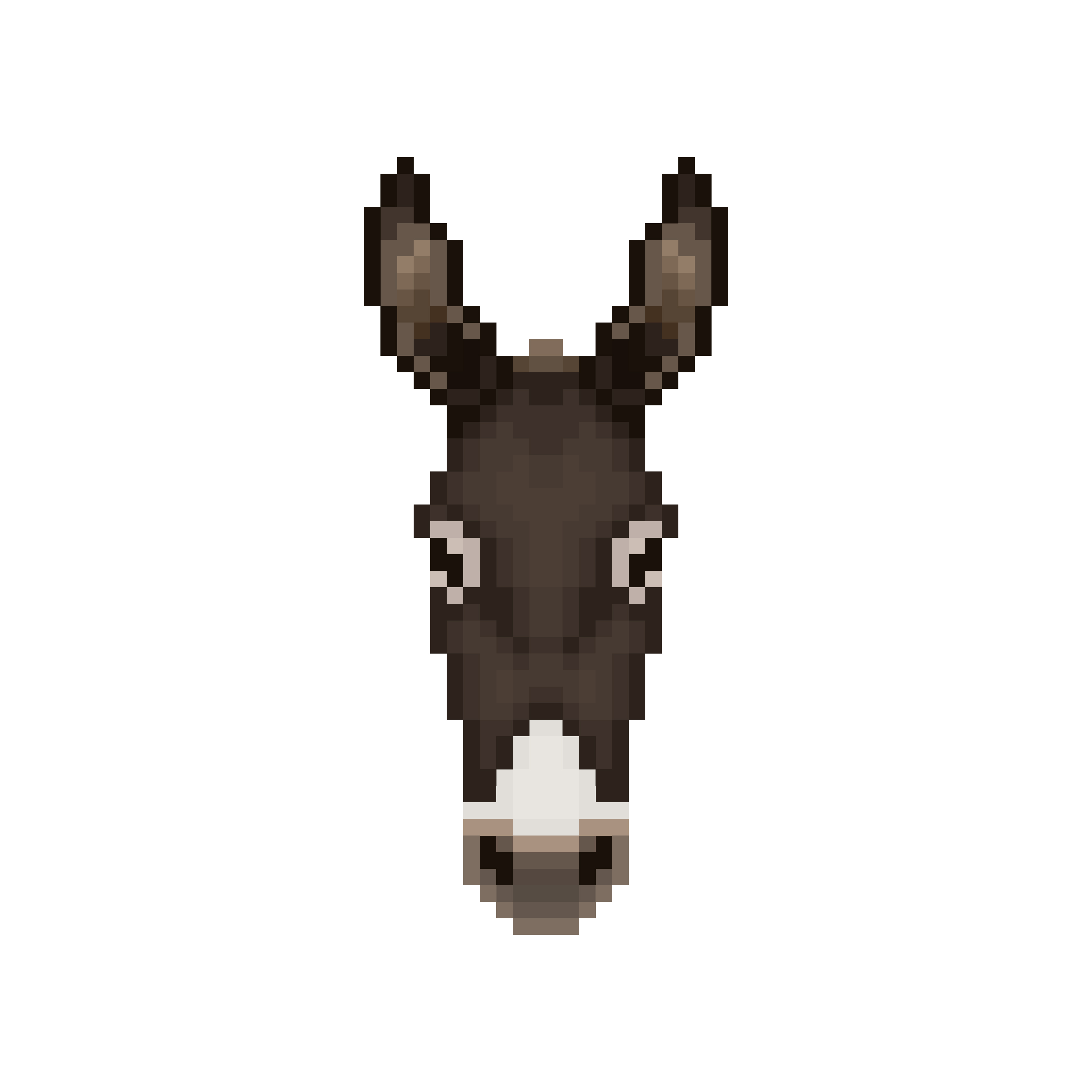 Tête D39âne Dans Le Style Pixel Art Telecharger