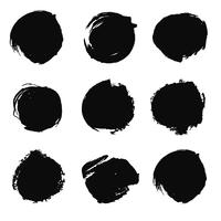 Black grunge set vector