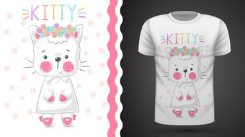Pretty kittty idea for print t-shirt