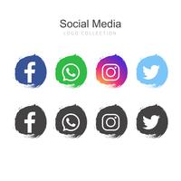 Populär Social Media logo samling
