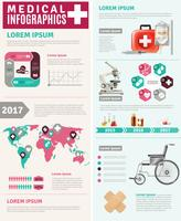 Medical Healthcare Worldwide Forskning Infographic Poster