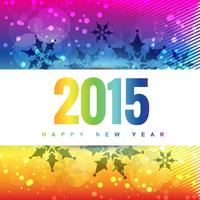 colorful new year design background with snowflakes