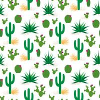 woestijn cactus patroon