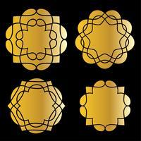 formes de médaillon d'or