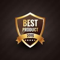 best product of 2015 vector golden label design badge