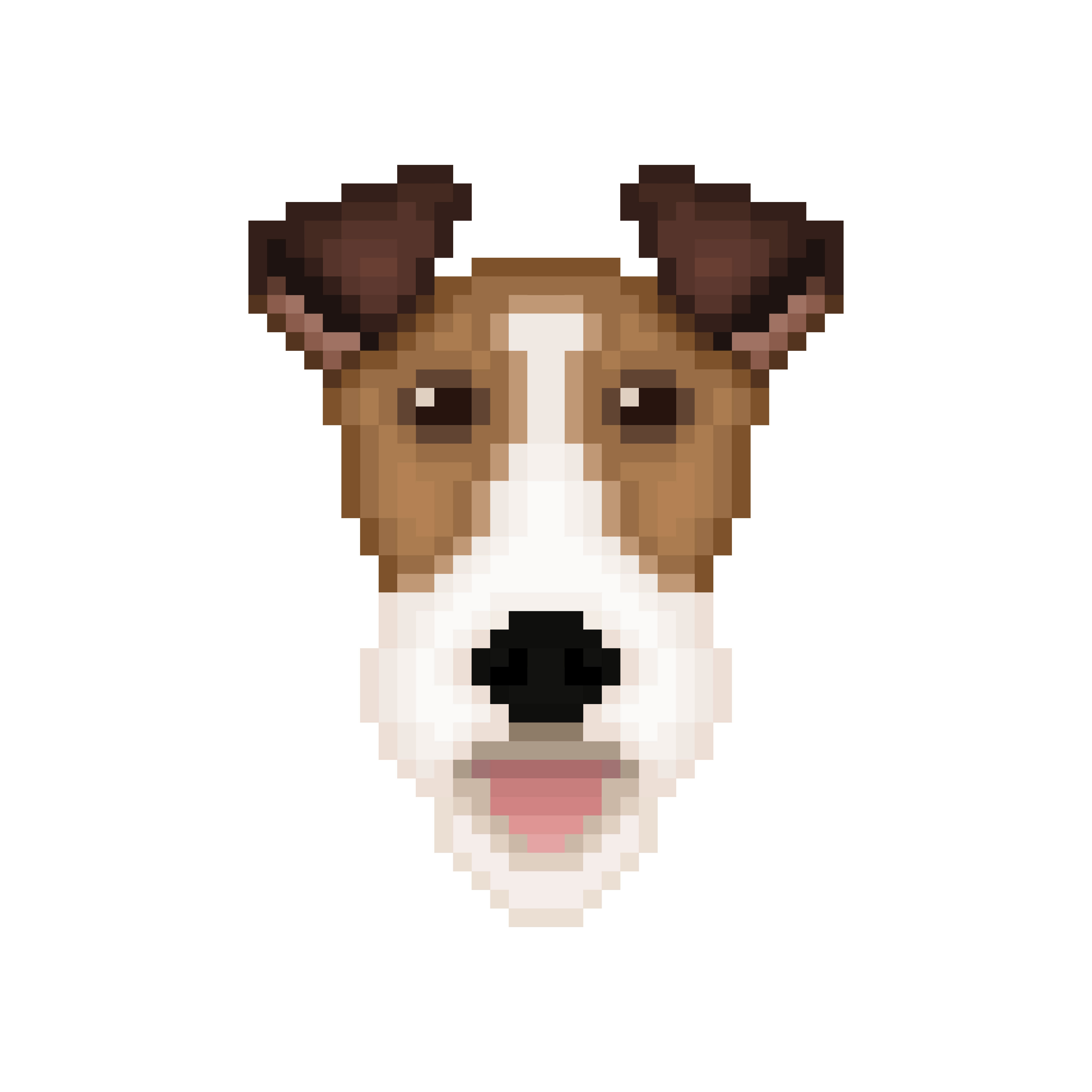 Tête De Chien Fox Terrier En Style Pixel Art Telecharger