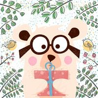 Leuke winter illustratie. Beren tekens.