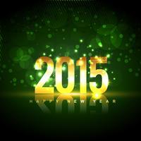 2015 happy new year design written in gold vector