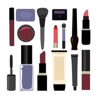 Cosmetics elements collection design
