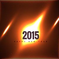 creative 2015 new year design on fire