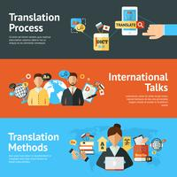 Language Translator Banner Set