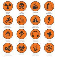 ícones de perigo preto
