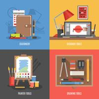 Outils de dessin Icon Set