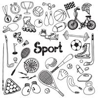 set di doodle di sport