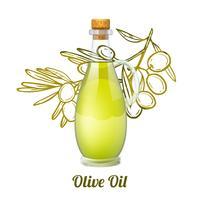 Concept de croquis à l'huile d'olive