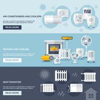 Heating And Cooling Banner vector