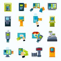 ATM-betaling plat pictogrammen instellen