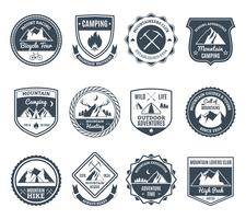 Mountain Adventure Emblems Black