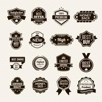 Luxury Labels Black vector