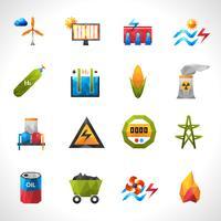 Icone poligonali della centrale elettrica