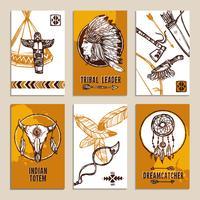 Conjunto de tarjetas étnicas