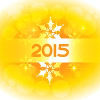 new year design in yellow theme with snowflakes