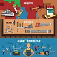 Tools Horizontal Banner Set
