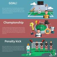 Voetbal sport banners instellen
