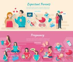 Conjunto de banners de embarazo