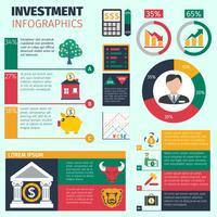 Conjunto de infográficos de investimento