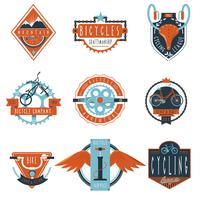 Cycling club labels emblems set