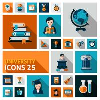 Universität Icons Set