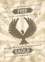 Cartaz do Grunge da águia