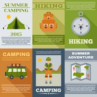 Camping posterset