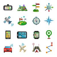 Location Flat Icon Set