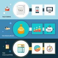 Conjunto de banners de impuestos