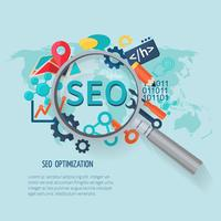 SEO Marketing flach