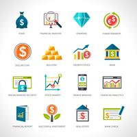 Financial Analysis Icons Set