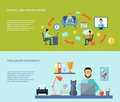 Set di banner piatti freelance