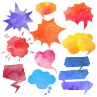 Watercolor Comics Bubble Set