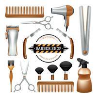 Conjunto de ferramentas de barbearia