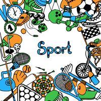 cornice di schizzo sportivo