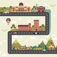 Cartel de la ciudad y suburbio.