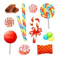 Conjunto realista de doces