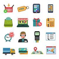 Iconos en línea planos